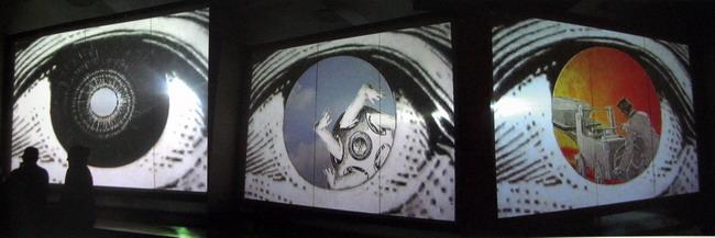 Sandra Ramos.2006. Los ojos de Dios. Video Instalación.