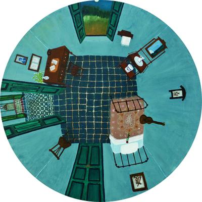 Cancion de cuna. Oleo sobre tela. 2010. 60cm de diametro