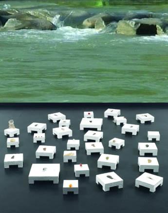 Pisadas de agua. Video Instalación. Medidas variables. Palazzo delle Arti Napoli