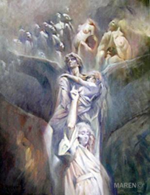 Amor Eterno, óleo sobre tela, 50 x 65 cm, 2007