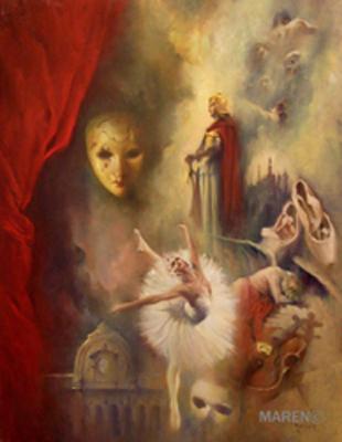 El ocaso de los dioses, óleo sobre tela, 90 x 116 cm, 2007