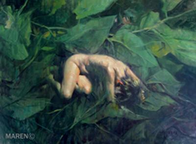 Nunca Jamás II, óleo sobre tela, 100 x 73 cm, 2008