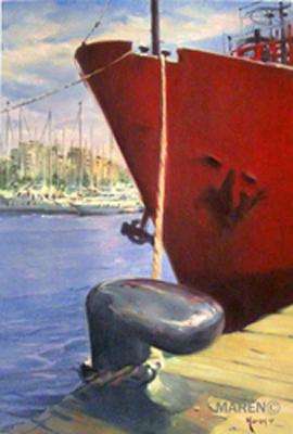 Port Vell, óleo sobre tela, 50 x 73 cm, 2007