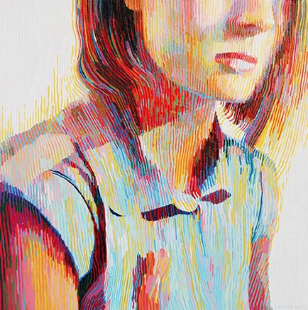 Mujer. 1x1 m. Esmalte sobre tela