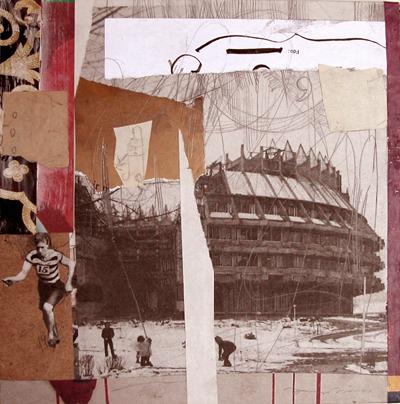 Corona de espinas. Fernando Higueras. Collage 20 x 20. 2008