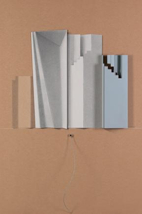 C.B.-VII Lápiz sobre cartón y collage 150 x 100 2008