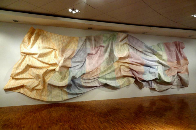 Cromagma 70, money out-of circulation,  12 x 4 meters, 2012