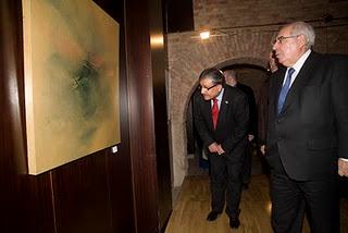 En la Exposición colectiva Pintores Asturianos con Palestina