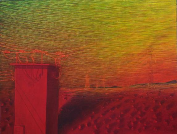 Sin título,´de la serie Silencio. 2002. Acrílico sobre lienzo, 89x116cm.
