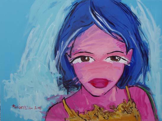 Lola Observa.Acrílico sobre lienzo. 97 x 130 cm
