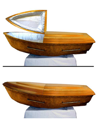 Arca de la Vida. Wood, bronze, fabric, etc