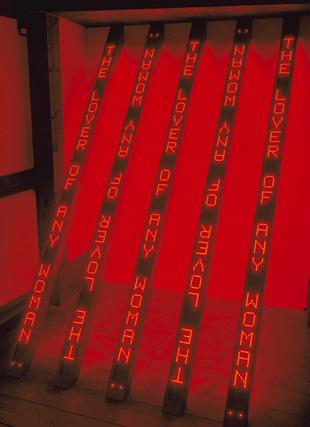 Red Tilt, 2002. 6 Señales electrónicas LED de doble cara en caja de aluminio