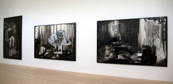 BACK TO BLACK, INSTALLATION VIEW,  KESTNERGESELLSCHAFT, HANNOVER, GERMANY, 2008