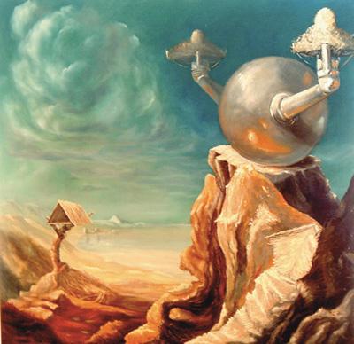 El Despierto . óleo-tabla, 100x100 cm. 2007