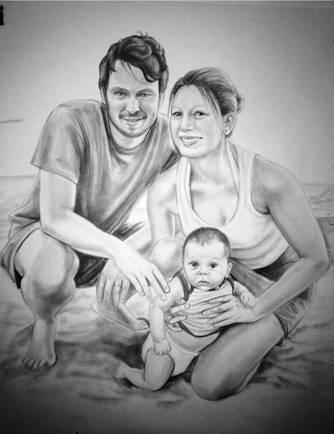 Grafito, 50x65 cm
