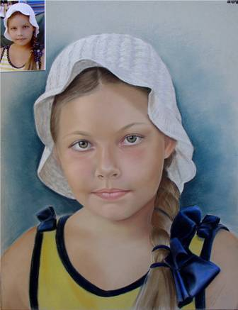 retrato pastel, 50x65 cm