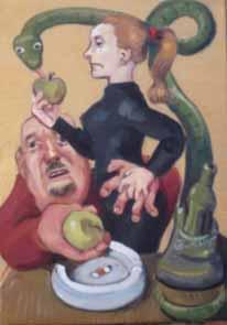 Eva la edad de oro2009 óleo  lienzo 46 x 33