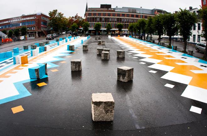Dream Hamar, intervención en plaza pública junto a Ecosistema Urbano. Noruega