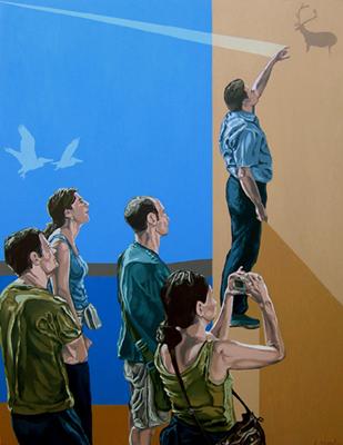 EL TIEMPO COMPRIMIDO, 2008. Óleo sobre lienzo. 146x114 cm