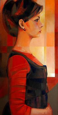 Retrato de Maria Sanchez Ozamiz en versión Giovanna Tornabuoni II