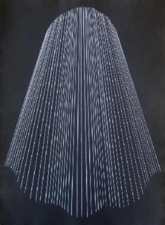 El rostro velado, 2006. Monotipo, aguafuerte, papel. 76X56 cm