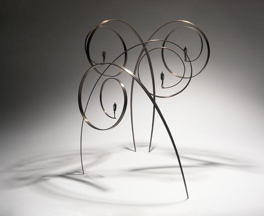 9 x 4 - bronce, latón - 2006