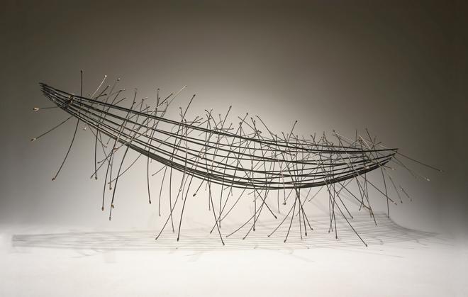 Barca de arroz - latón, hierro, bronce - 2008