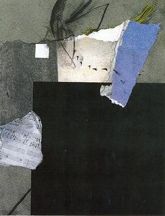 Herzgewasche de Schoenberg. Mixta y collage. 30 X 20 cm