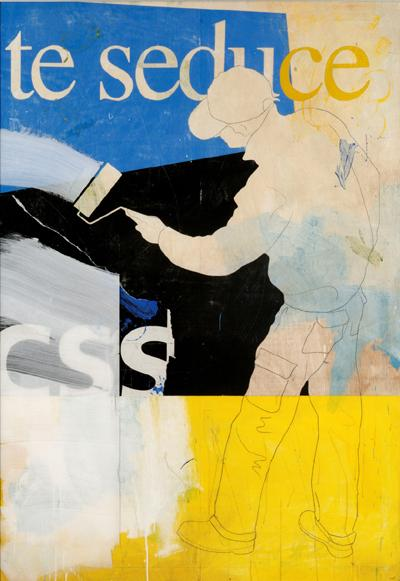 Metacrilato pintado sobre tablero. 200 x 140 cm.