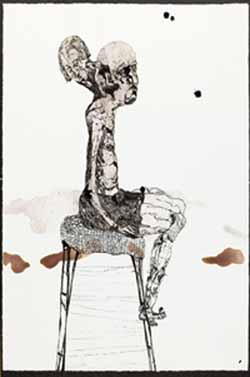 El golem, 2008 tintapaper 39 x 29 cm