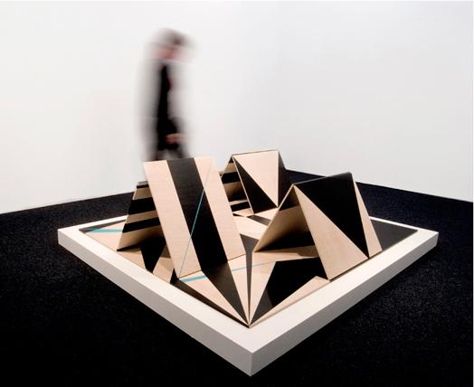 Installation Piezas-cubo. 2009