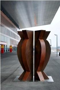 ART Karlsruhe, acero corten, 250 x 200 x 200 cm