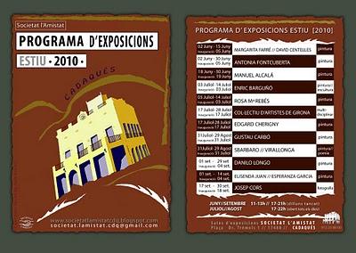 Poster programa expos 2010 Societat lAmistat Cadaqués