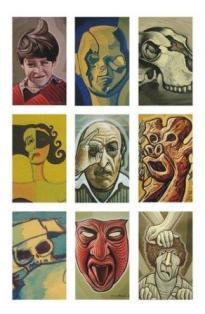 portada del cartel y catalogo de la exposición mil rostres duna vida