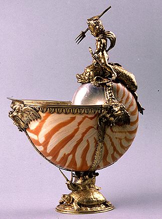 Copa de Nautilo. Siglo XVI. Joyería. Museo Lázaro Galdiano