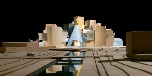 Maqueta del futuro Guggenheim Abu Dhabi