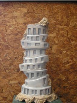 Agustin Echevarria, Escultura ceramica con perfil genético