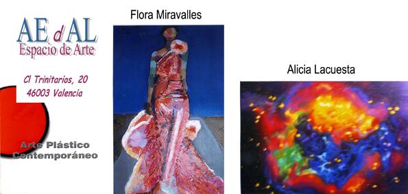 invitación Exposición de Flora & Alicia
