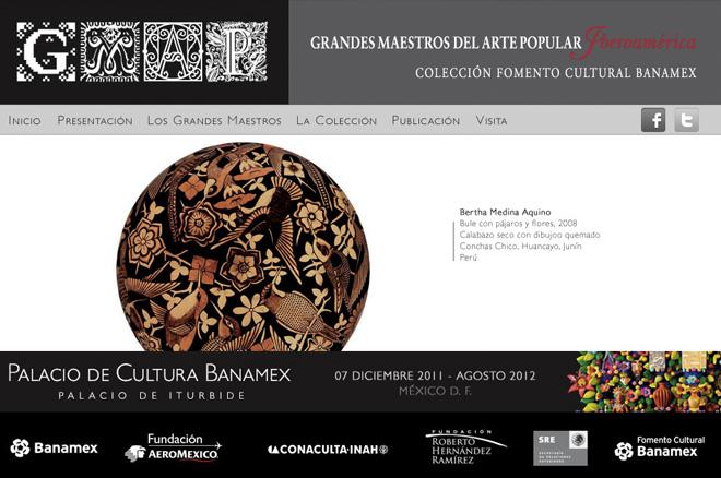 Sitio web de la exposición Grandes Maestros del Arte Popular de Iberoamérica