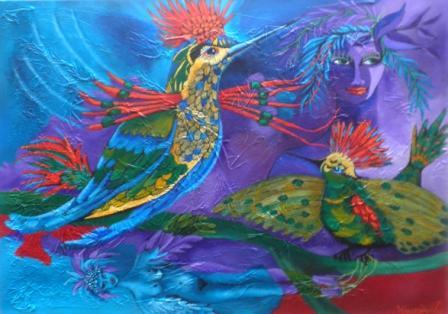 Reflejo de canto - obra de Milagro Quiroa