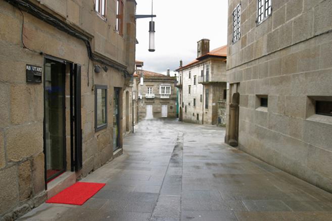 Fachada de la Galería About Art, en el centro histórico de la ciudad.