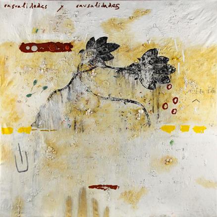 Casualidades-y-causalidades, 2012, tecnica mista su tela, cm 200x200