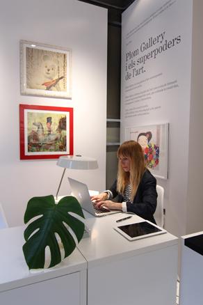 PLOM Gallery, espacio de trabajo