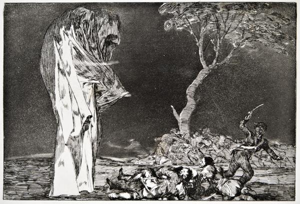 Francisco de Goya - Disparate de miedo