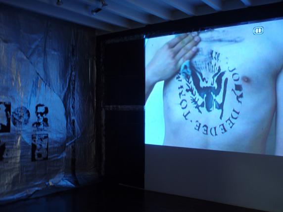 Vista en la exposición de Salvador Cidrás