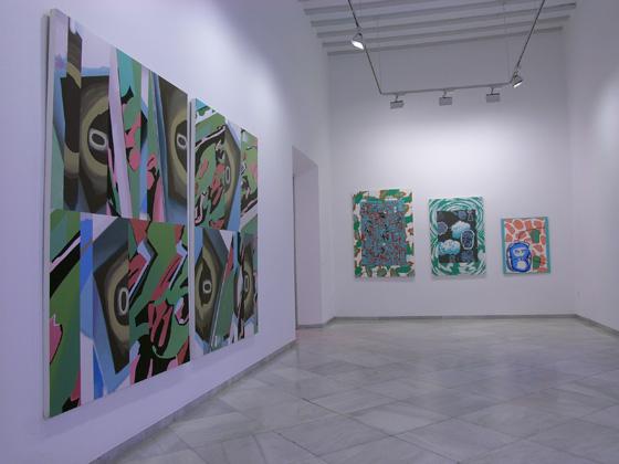 Vista parcial exposición Luis Gordillo