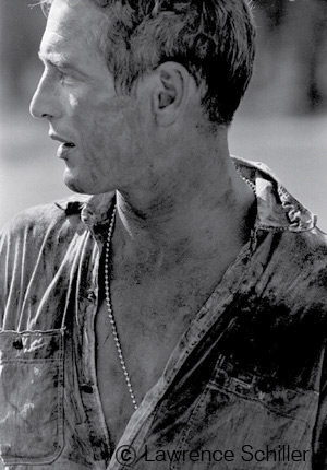 Paul Newman durante el rodaje Cool hand Luke , Lawrence Schiller