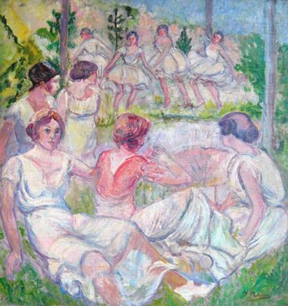 Francisco Iturrino Mujeres en el campo