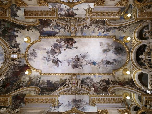 Salón de Baile. Decoración del techo
