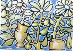 Manuel Torres -Plantas con flor-
